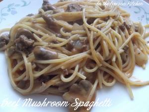 Beef Mushroom Spaghetti