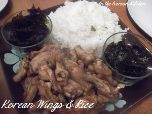 Korean Wings & Rice