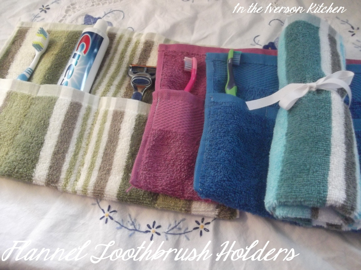 Flannel Toothbrush Holders